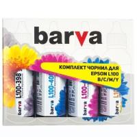 Комплект чернил Barva EPSON L100 / L210 / L300 / L350 / L355 (T664) B / C / M / Y (E-L100-090-MP) 4 х 90 грамм