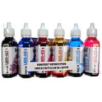 Комплект чернил Barva EPSON L800 / L810 / L850 / L1800 B / C / M / Y / LC / LM (T6731) (L800-090-MP) 6 х 90 грамм