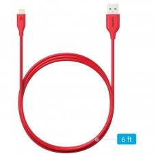 Кабель Anker PowerLine USB - Lightning V3 1.8m, Red (A8112H91)