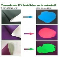 Термохромная ткань (PU) Black to green #51,  1 м2